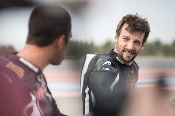 Mathieu Kassovitz en Kawasaki H2R