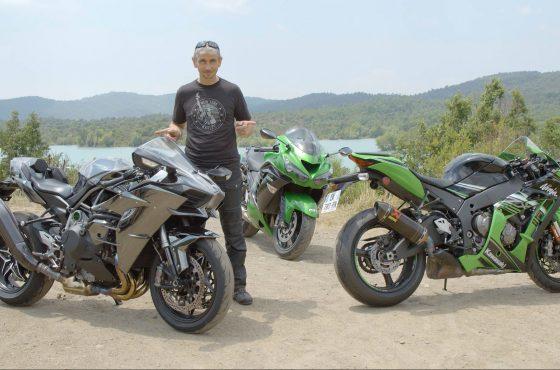 3 Kawasaki de 200 chevaux